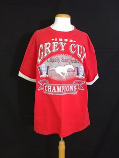 Vintage 1992 CFL Calgary Stampeders Grey Cup Champions T-shirt  Canadian  Football 1992 Champions 8201ffc2f