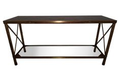 Bamboo-Style Brass Console