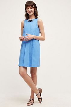 Pintucked Poplin Dress #anthropologie