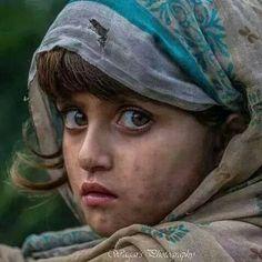 An #Afghan girl portrait.