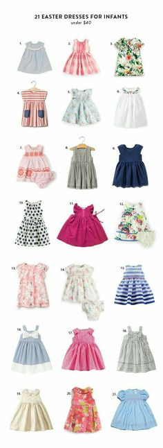 By fashion editor Ashley Can you believe Easter is just three weeks away? For the next weeks I'll be replacing the fab finds with some budget friendly Easter round ups. Girls Easter Dresses, Little Dresses, Little Girl Dresses, Girls Dresses, Baby Dresses, Peasant Dresses, Infant Easter Dresses, Modest Dresses, Spring Dresses