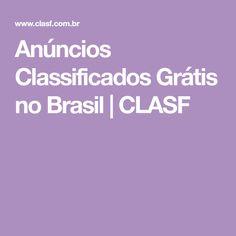 Anúncios Classificados Grátis no Brasil | CLASF Quilt Cover, Brazil, Stuff Stuff, Detective