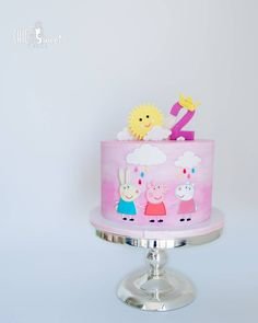 "81 Likes, 5 Comments - Chic & Sweet Cakes (@chicandsweetcakes) on Instagram: ""Peppa pig theme cake for little Aarya's 2nd.. The design was based on the picture provided by our…"""