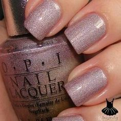 "OPI Nail Polish ""Gorgeous Glistening Plum"" gift for Noriko? Fancy Nails, Cute Nails, Pretty Nails, Sparkly Nails, Opi Nail Colors, Uñas Fashion, Diamond Nails, Opi Nails, Nail Polishes"