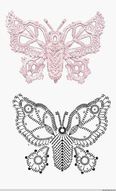 With over 50 free crochet butterfly patterns to make you will never be bored again! Get your hooks out and let& crochet some butterflies!lovebird doily crochet by Crochet Butterfly Pattern, Irish Crochet Patterns, Crochet Designs, Crochet Flowers, Freeform Crochet, Crochet Art, Thread Crochet, Vintage Crochet, Crochet Russe
