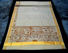 Saree Painting, Kerala Mural Painting, Dress Painting, Tanjore Painting, Fabric Painting, Hand Painted Sarees, Hand Painted Fabric, Mural Art, Murals