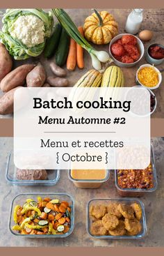 Batch cooking Automne – Mois d'Octobre – Semaine 40 Batch cooking (menu and recipes) for the week of September 30 to October 2019 The post Batch cooking Fall # 2 & October Month & Week 40 appeared first on Gastronomy and Culinary. Healthy Cooking, Lunch Recipes, Healthy Dinner Recipes, Vegetarian Recipes, Cooking Recipes, Easy Cooking, Cooking Cake, Cooking Fish, Vegetarian Cooking