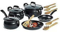 Essential Home 14-Piece Carbon Steel Cookware Set