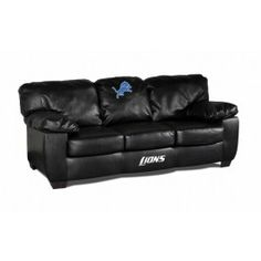 Detroit Lions NFL Classic Leather Sofa/Couch Furniture
