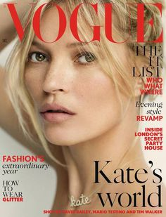 Cover star: Kate graces the cover of the fashion magazine for the 36th time (Photo credit: Tim Walker)