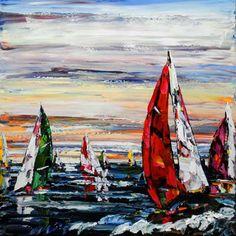 """Harbour"" Create Words, Maya, North America, Scene, Landscape, Artwork, Painting, Scenery, Work Of Art"