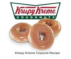 Yum!! Krispy Kreme CopycatRecipe - #donut #recipe