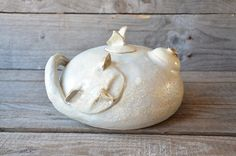 Stoneware Teapot Gat-tea   MADE TO ORDER by lofficina on Etsy