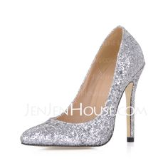 Wedding Shoes - $49.99 - Women's Sparkling Glitter Stiletto Heel Closed Toe Pumps With Sequin (047020486) http://jenjenhouse.com/Women-S-Sparkling-Glitter-Stiletto-Heel-Closed-Toe-Pumps-With-Sequin-047020486-g20486
