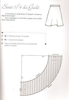 Munamó: Passo a passo da Saia longa com estampa animal print, modelo 1/4 de godê ou godê simples