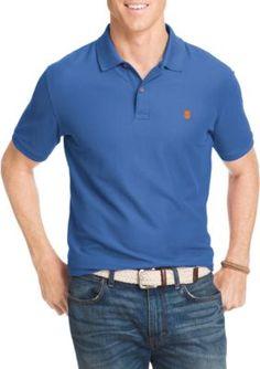 IZOD Blue Revival Big  Tall Advantage Core Short Sleeve Polo Shirt