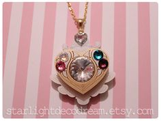 Suite PreCure Inspired Jeweled Cure Module Necklace for Magical Girl Shoujo Mahou Kei Fashion