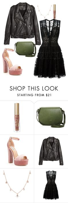 """""""It's Stupid Anyway"""" by disney-geek-forever on Polyvore featuring Too Faced Cosmetics, Angela Roi, Steve Madden, H&M, Anne Sisteron and Elie Saab"""