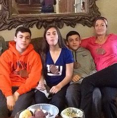 Grayson, Ethan, Cameron, and there Mom