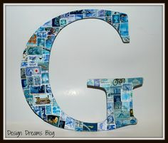 Letters for the boys rooms!   @ Design Dreams Blog