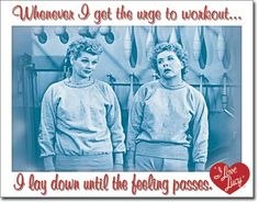 I Love Lucy - Workout Tin Sign, #1822