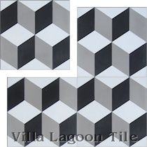 This would be great on the floor. Cement Tile in Stock for Immediate Shipment | Villa Lagoon Tile