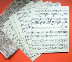 music sheets for crafts