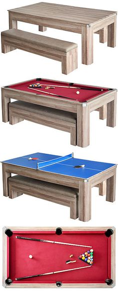 Tables 21213: Pool Table Billiard Balls Cues Table Game Room 84 Inch With  Bonus Dartboard Set  U003e BUY IT NOW ONLY: $362.61 On EBay!