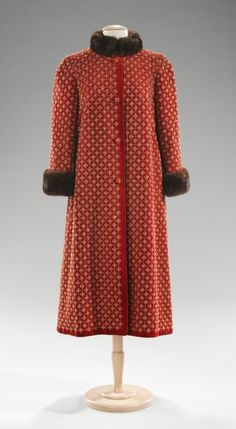 Norman Norell coat, circa 1957 via The Costume Institute of the Metropolitan Museum of Art