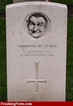 Al Lewis tombstone