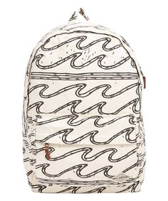 00277bd76dad Black  amp  White Wave Hand Over Love Backpack  waves Beach