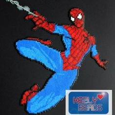 Spiderman hama  perler beads by kezlybeads