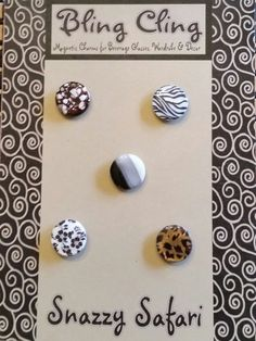 Bling Cling Snazzy Safari Magnetic Charms by LiCocoDesigns on Etsy