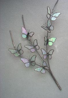 3D Butterfly Branch by Michele Hubble, Starlight Glassworks