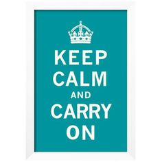 Art.Com Assorted Keep Calm And Carry On Framed Giclee Print (€125) ❤ liked on Polyvore featuring home, home decor, wall art, assorted, white home decor, keep calm wall art, framed wall art, white framed wall art and giclee wall art