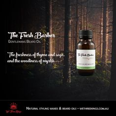 Fresh, clean and just a tiny bit forest-y. Give your beard a break We Three Kings, Hair Wax, Beard Oil, The Fresh, Natural Hair Styles, Fragrance, Nature, Products, Naturaleza