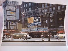 1952 Times Square RKO Paramount Les Paul New York City NYC Photo