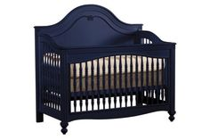 Built to Grow Panel Convertible Decorative Turning Crib - True Blue