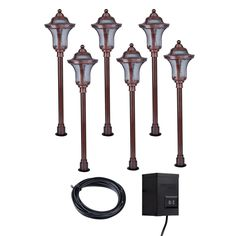 Portfolio 6 Light Bronze Low Voltage Incandescent Path Lights Landscape Kit Transformer Included 95 20at Lowes Pinterest Lighting Kits