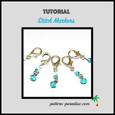 Tutorial on how to make stitch markers with beads and jewelry making supplies by Pattern-Paradise.com #crochet