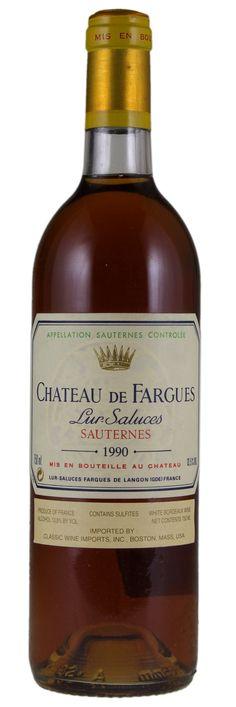 Chateau de Fargues 1990...I own this.