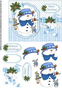 Snowman choir on Craftsuprint - Add To Basket!