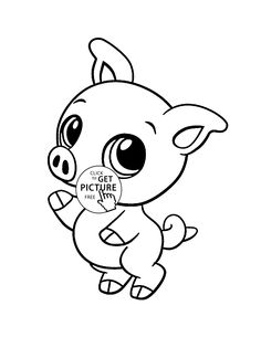 baby pig animal coloring page for kids baby animal coloring pages printables free wuppsy - Baby Animal Coloring Pages