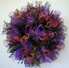 halloween deco mesh wreath - Google Search