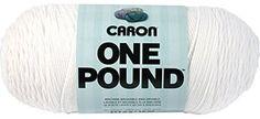 Caron One Pound Yarn, 16 Ounce, White