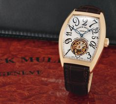 Franck Muller  A FINE AND RARE PINK GOLD TONNEAU-FORM TOURBILLON WRISTWATCH REF 7880 T CH NO 03 CRAZY HOUR TOURBILLON CIRCA 2008
