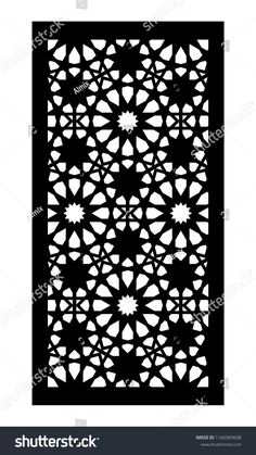 Decorative vector panel for laser cutting. Template for interior partition in arabesque style. Laser Cut Screens, Laser Cut Panels, Laser Cut Metal, Laser Cutting, Jaali Design, Cnc Cutting Design, Laser Cut Patterns, Islamic Wall Art, False Ceiling Design