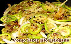 Receita do melhor jilo refogado #receitas #comofazer #refogado