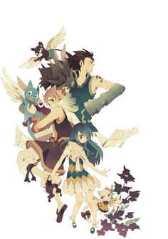 Dragon slayers with their Exceed companions.