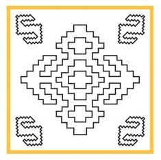 Motiflerin Gizli Dili Shaman Symbols, Native Symbols, Embroidery Patterns, Hand Embroidery, Cross Stitch Patterns, Ancient Scripts, Loom Bracelet Patterns, Quilting Stencils, Persian Motifs